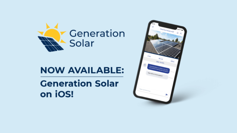 Generation Solar app out now on iOS